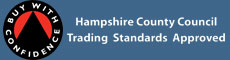 Buy With Confidence - Hampshire County Council Trading Standards Approved